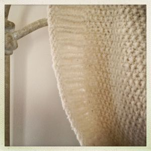 with seed stitch and ribbing...